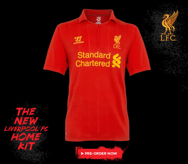 New Liverpool FC Home Kit for 2012-13 unveiled - Anfield Online