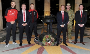 Reds lay wreath at ANZAC Square