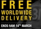 Free worldwide delivery in online store