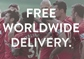 Free worldwide delivery online now
