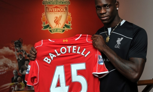 Balotelli to wear No.45 at Liverpool