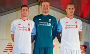 Milner, Mignolet and Skrtel launch away kit