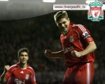 wallpaper, steven gerrard, home kit, celebration, goal