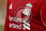 Reds train for the first time in the new Standard Chartered-sponsored Liverpool strip
