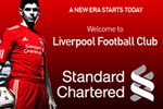LFC website announces the start of the Standard Chartered shirt sponsorship deal