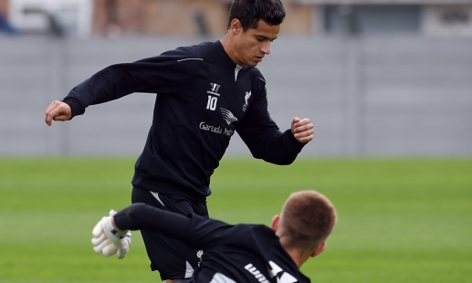 Exclusive: Shooting practice at Melwood