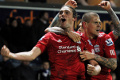 Carroll heads the winner