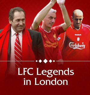 Liverpool FC Legends support LFC Foundation in London