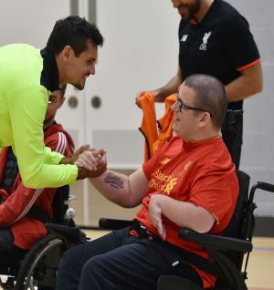 Reds duo Grujic & Lovren attend Respect 4 All coaching session