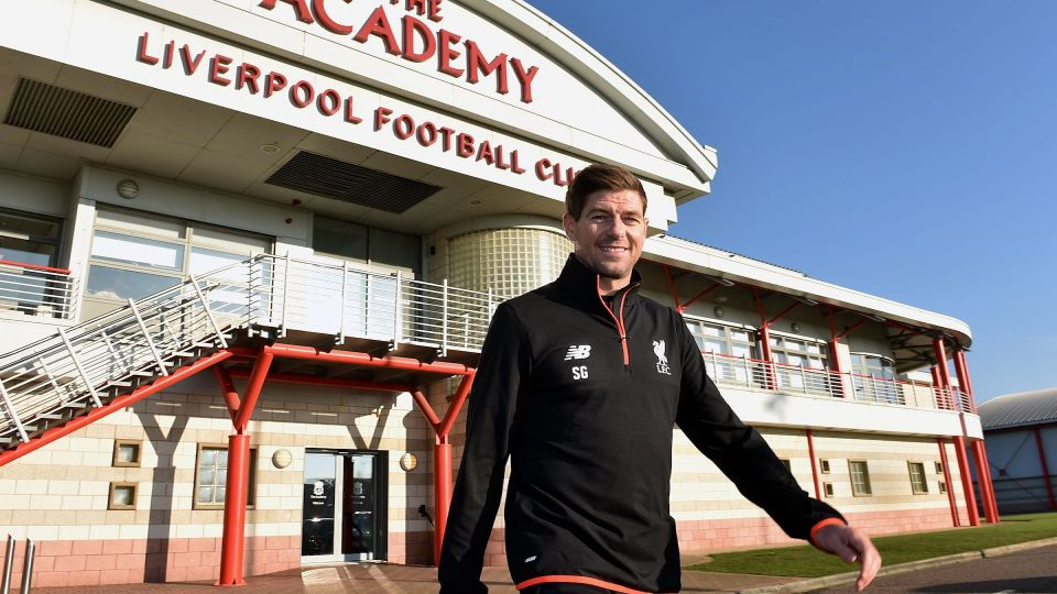 Steven Gerrard reveals his U18s backroom team