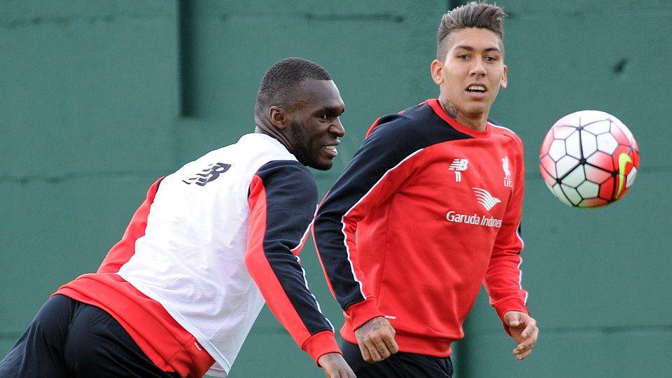 Firmino & Benteke in training