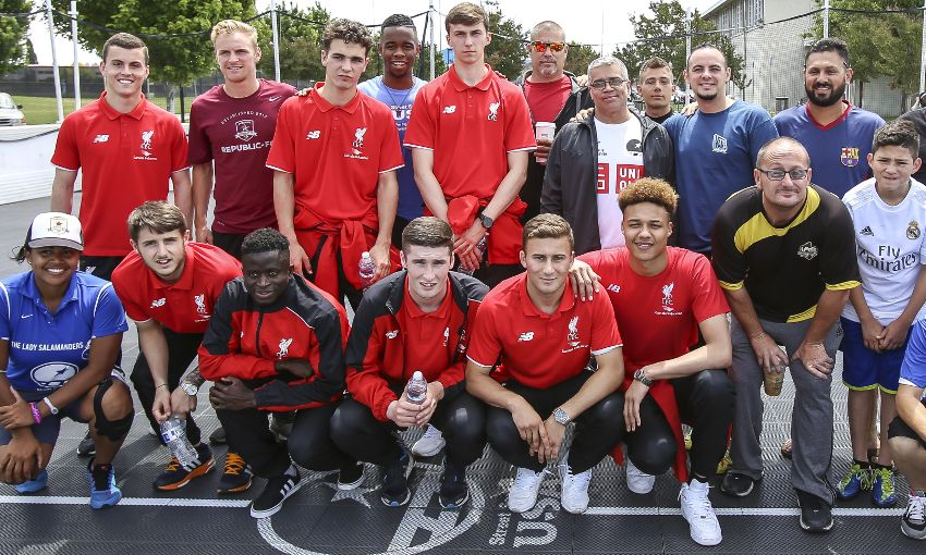 U21s Host Football Clinic For Youths On Usa Tour