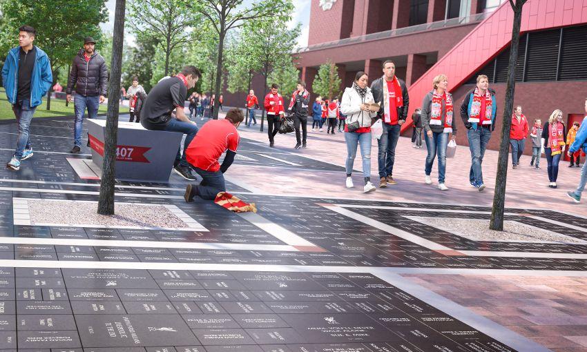 Fans Blocking Walkways : Fan tribute walkway at anfield
