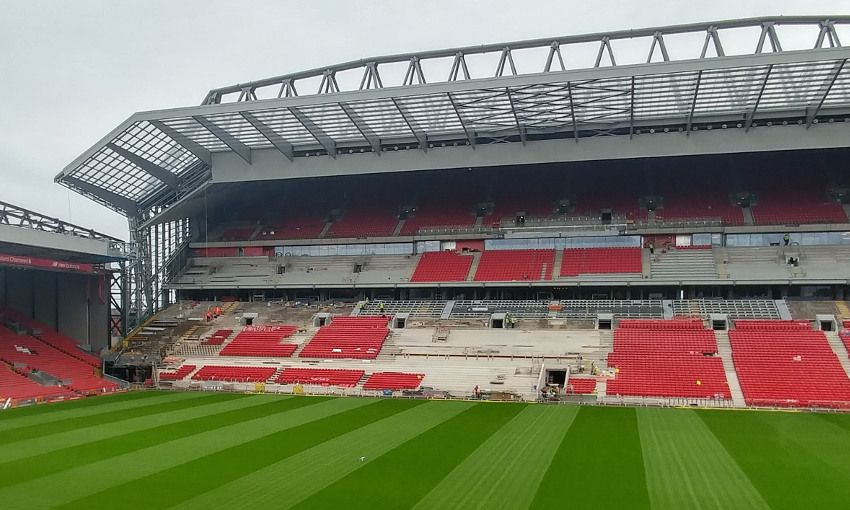 Anfields Main Stand Truss One Year Old Today Liverpool Fc