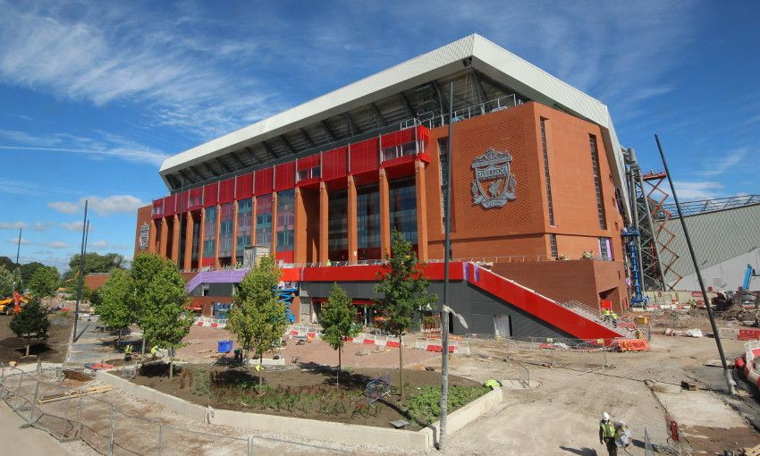 Main Stand Latest Trees Planted At Anfield Liverpool Fc